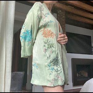 trf _outerwear embroidered kimono